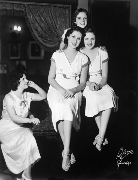 Judy Garland with mother, Ethel Gumm, sisters Mary Jane and Virginiacirca 1930s** I.V. - Image 0733_2334