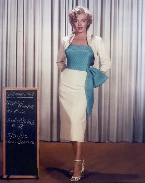 "Marilyn Monroewardrobe test for ""Niagara,""taken in 1952 / 20th Century Fox - Image 0758_0035"
