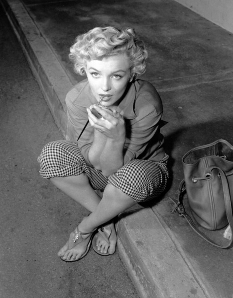 "Marilyn Monroeon the set of ""Clash By Night""taken in 1951.  Photo by Ernest Bachrach - Image 0758_0322"