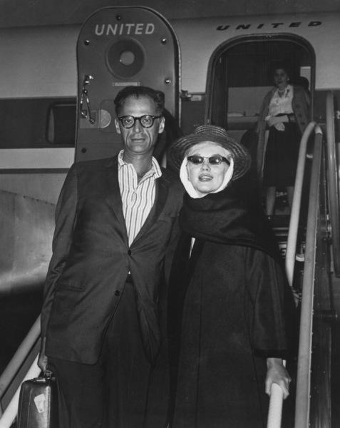 Marilyn Monroe with husband Arthur Miller, c. 1958. - Image 0758_0373
