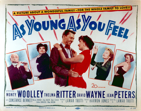 """As Young As You Feekl""Movie poster1951 / 20th Century Fox - Image 0758_0380"