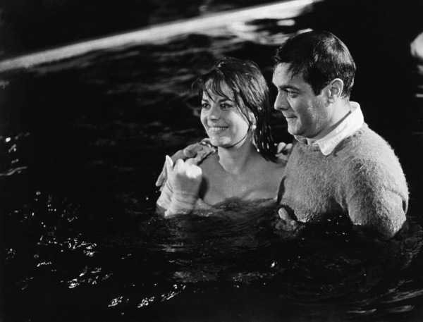 "Natalie Wood and Tony Curtis on the set of ""Sex and the Single Girl""1964© 1978 Chester Maydole - Image 0764_0460"