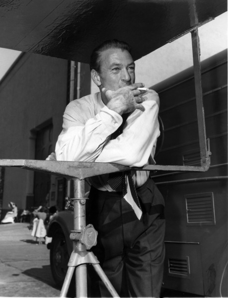 "Gary Cooper between takes during the filming of ""The Fountainhead""1949Photo by Jack Woods - Image 0809_0077"