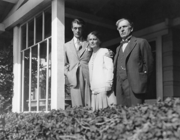 Gary Cooper with  his Parents 1930 Paramount PicturesPhotograph By Otto Dyar **I.V. - Image 0809_0862