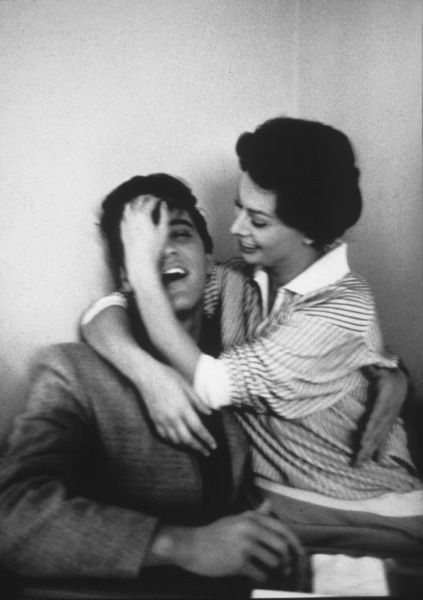 Elvis Presley with Sophia Loren at Paramount Studios, 1958. © 1978 Bob Willoughby - Image 0818_0412