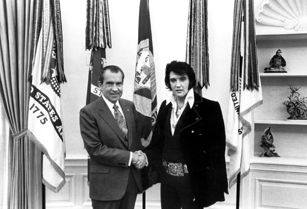 Elvis Presley, Richard Nixon, early 1970s, **I.V. - Image 0818_0593