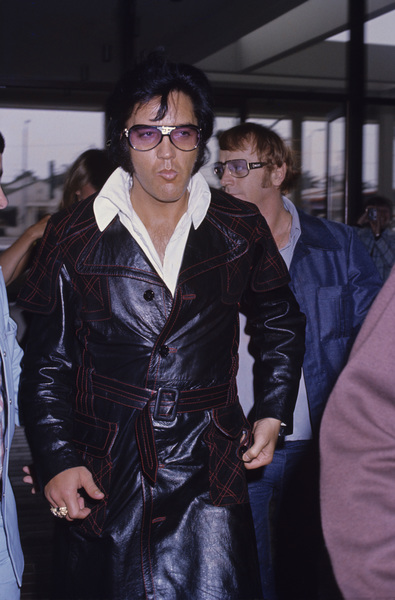 Elvis Presley with Red Westcirca 1970s© 1978 Gary Lewis - Image 0818_0710