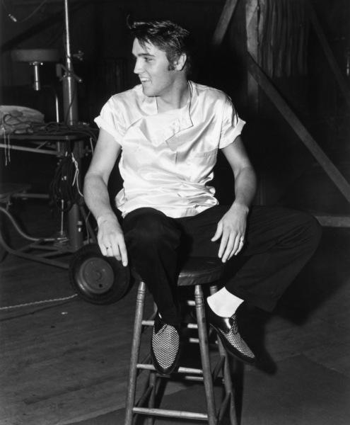 """Elvis Presley during the making of """"Love Me Tender""""1956** I.V.M. - Image 0818_0736"""