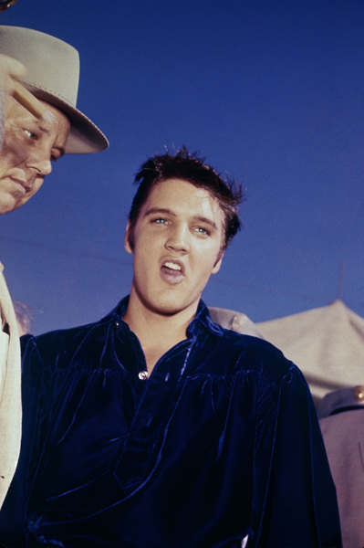 Elvis Presley in Tupelo, Mississippi performing at the Mississippi-Alabama Fair and Dairy Show September 26,1956 © 1978 Roy Cummings - Image 0818_0739