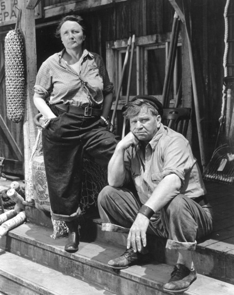 Wallace Beery with Marjorie Main, c. 1940. - Image 0833_0002
