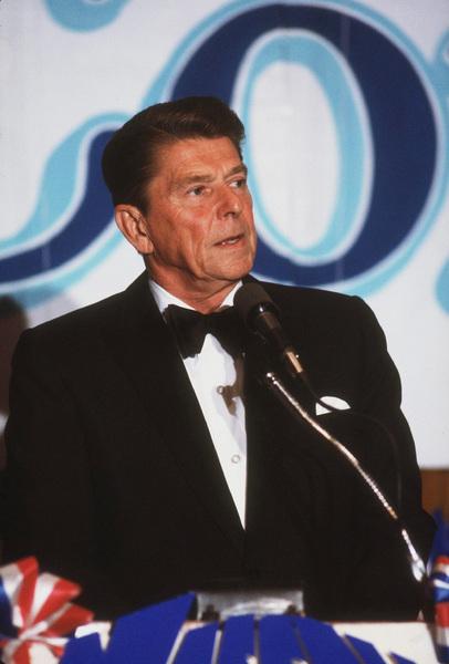 Ronald Reagan at Nassau GOP Republican committee event1979 © 1979 GuntherMPTV - Image 0871_1617