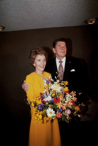Ronald Reagan with wife Nancy Reagan  1980 © 1980 GuntherMPTV - Image 0871_1633