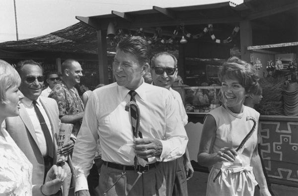 Ronald Reagan and wife Nancy ReaganCampaigning at a county fairC. 1964-65 © 1978 Bud Gray - Image 0871_1705