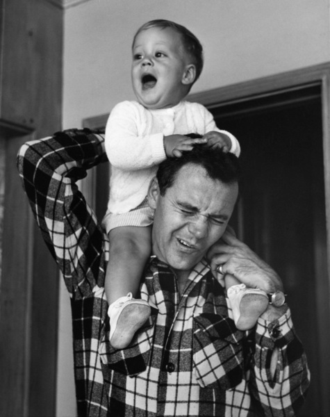 Jack Lemmon at home with his son, Chris1955© 1978 Sid Avery - Image 0894_0245