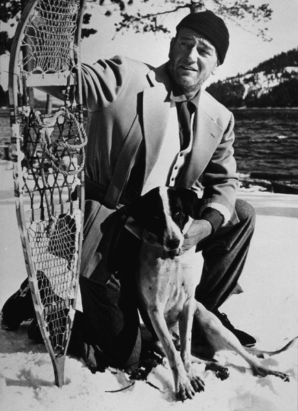 "John Wayne on location at Donner Lake in the High Sierras for ""Island in the Sky,"" Warner Bros. 1953. - Image 0898_2083"