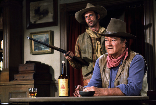 "John Wayne in ""Rio Lobo,"" Warner Bros. 1970.Photo by Marv Newton. - Image 0898_2094"