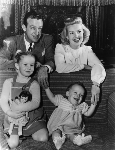 Betty Grable, Harry James, and their daughters (Victoria Elizabeth and Jessica)circa 1940s - Image 0904_0017