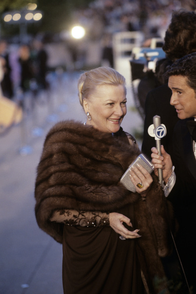 "Joan Fontaine being interviewed by Regis Philbin at ""The 50th Annual Academy Awards""1978 © 1978 Gunther - Image 0922_0717"