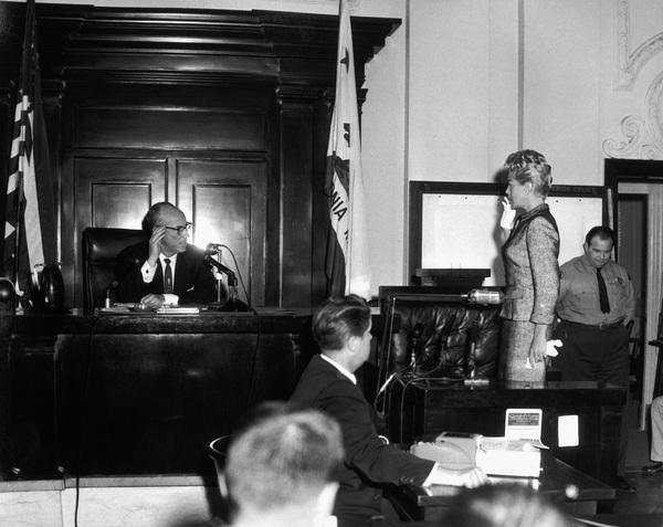 Lana Turner at the Johnny Stompanato murder trial1958** I.V. - Image 0954_0704