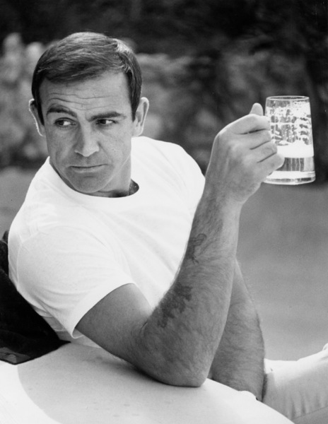 Sean Connery with beer mug1964 © 1978 Bob Willoughby - Image 0955_0693