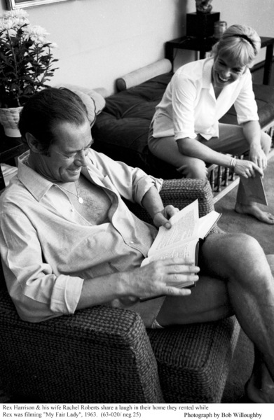 Rex Harrison with wife Rachel Roberts, 1963 © 1978 Bob Willoughby - Image 0962_1000