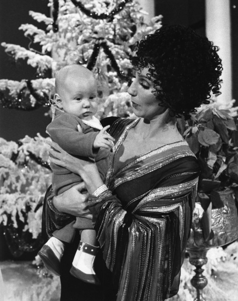 """Cher Bono with son Elijah Allman on """"The Sonny and Cher Show""""1976Photo by Gabi Rona - Image 0967_0105"""