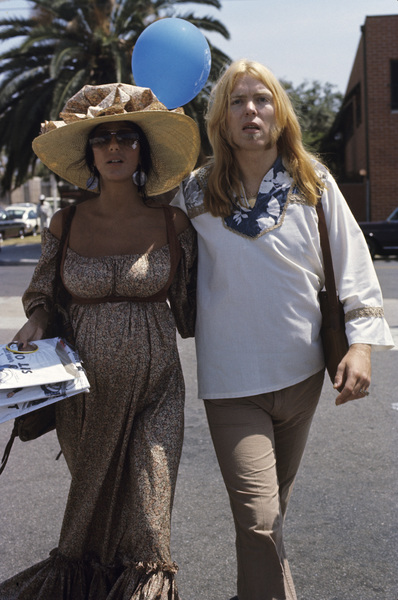 Cher (pregnant with Elijah) and Gregg Allman1976 © 1978 Gary Lewis - Image 0967_0232