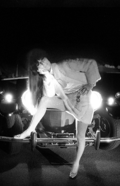Cher Bono in front of her Excalibur car in Beverly Hills1967© 1978  Bob Willoughby - Image 0967_0308
