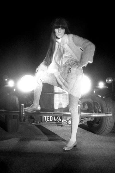 Cher Bono in front of her Excalibur car in Beverly Hills1967© 1978  Bob Willoughby - Image 0967_0309