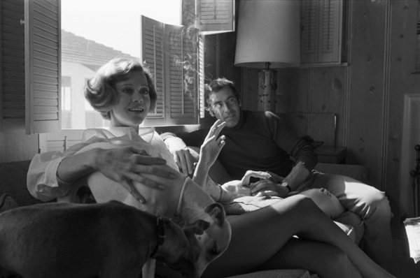 Jane Fonda at home with husband Roger Vadim1969 © 1978 Bruce McBroom - Image 0968_1080