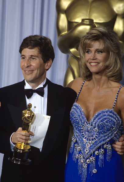 "Jane Fonda and Tom Schulman at ""The 62nd Annual Academy Awards""1990 © 1990 Gary Lewis - Image 0968_1190"