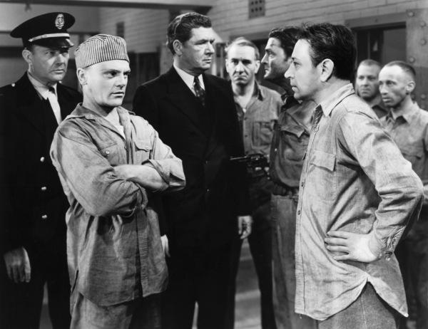 "James Cagney, Willard Robertson, Edward Pawley and George Raft in ""Each Dawn I Die"" 1939 Warner - Image 0969_0020"