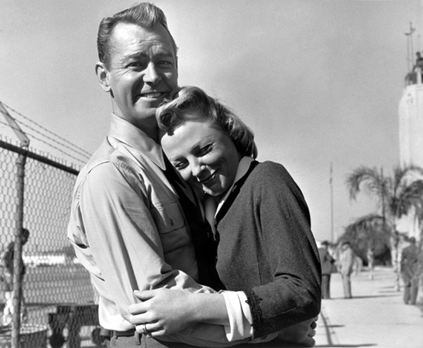"June Allyson and Alan Ladd on the set of ""The McConnell Story""1955 - Image 0983_0061"