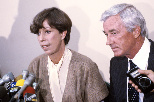 Carol Burnett and husband Joe Hamilton at a press conference in Los Angeles, CA03-26-1981 © 1981 Gunther - Image 1000_0163
