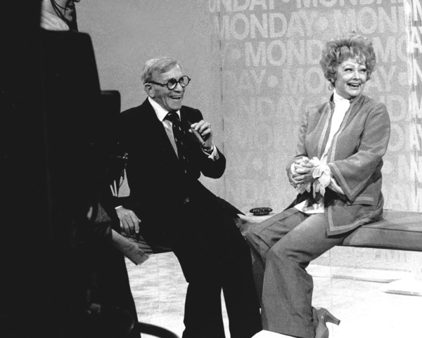 George Burns with Lucille Ball, 1978.Photo by Gabi Rona - Image 1001_0102