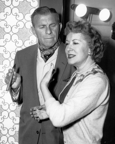 """George Burns and Gracie Allen on""""The George Burns and Gracie Allen Show,""""1957 /CBS.Photo by Gabi Rona - Image 1001_0613"""