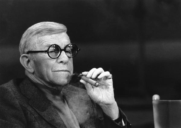 "George Burns, on the ""Dinah""talk show, c. 1976.Photo by Gabi Rona - Image 1001_0624"