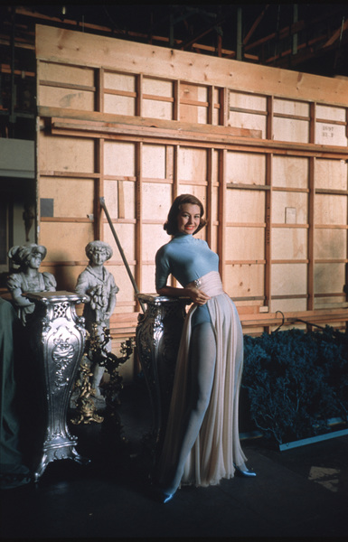 """Cyd Charisse behind the scenes of """"Silk Stockings"""" 1957 © 2001 Mark Shaw - Image 1003_0067"""