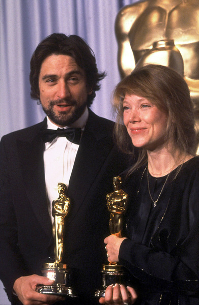"""Academy Awards: 53rd Annual,"" Robert De Niro (Best Actor), Sissy Spacek (Best Actress). 1981. © 1981 Gunther - Image 10548_0007"