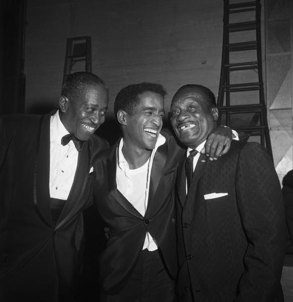 Sammy Davis Jr. with Sammy Davis Sr. and Will Mastin at the Huntington Hartford Theater where Davis was appearing10-25-1960 © 1978 David Sutton - Image 10633_0001