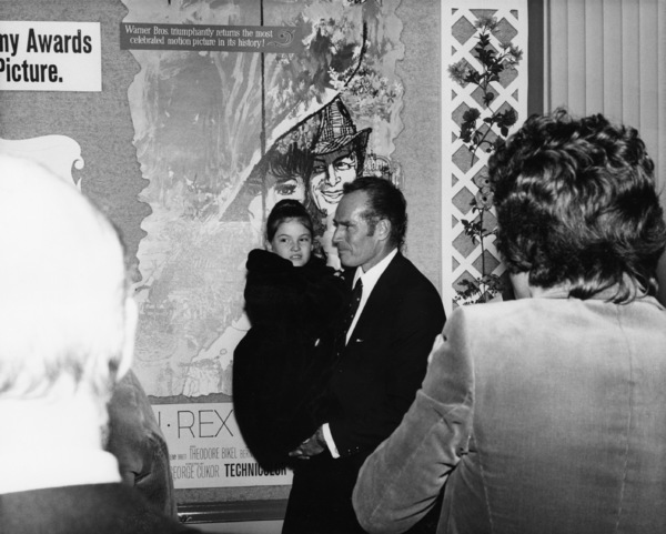 """""""My Fair Lady"""" (Premiere)Charlton Heston and his young daughter Holly1964 - Image 10706_0033"""