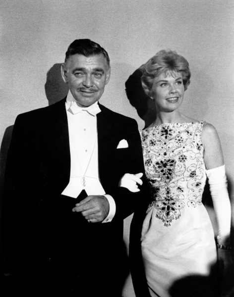 Clark Gable and Doris Day at the Academy Awards : 30th Annual, 1958. © 1978 Sid Avery - Image 10764_0024