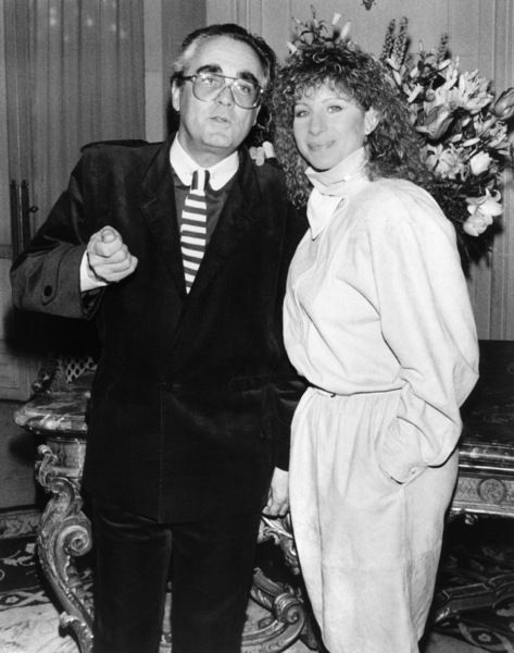 """Michel Legrand and Barbra Streisand at a press conference for """"Yentl"""" at the Paris Grand Hotel, Paris, France. March 21, 1984** B.D.M. - Image 10874_0002"""