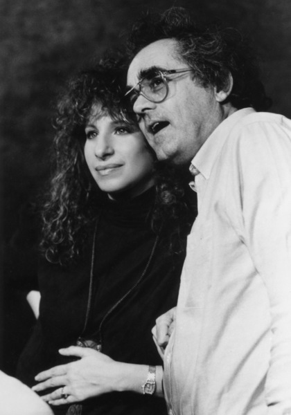 """Barbra Streisand and Michel Legrand at a recording session for the soundtrack of """"Yentl"""" 1983** B.D.M. - Image 10874_0004"""