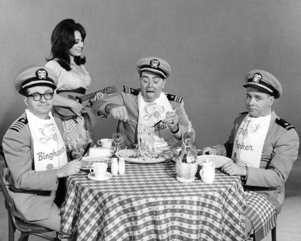 "Joe Flynn, Ernest Borgnine and Tim Conway in ""McHale"
