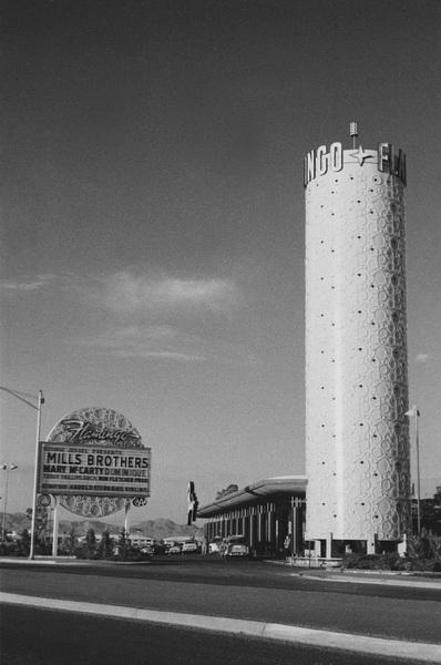 Las Vegasexterior of the Flamingo HotelMarch 1955 © 1978 David Sutton - Image 10954_0025