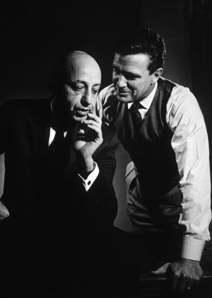 Photographer Yousuf Karsh with Robert Stack1961Photo by Ernest Reshovsky© 1978 Marc Reshovsky - Image 11288_0005