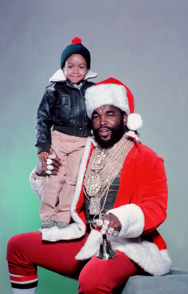 Mr. T with Emmanuel Lewiscirca 1985** H.L. - Image 11782_0029