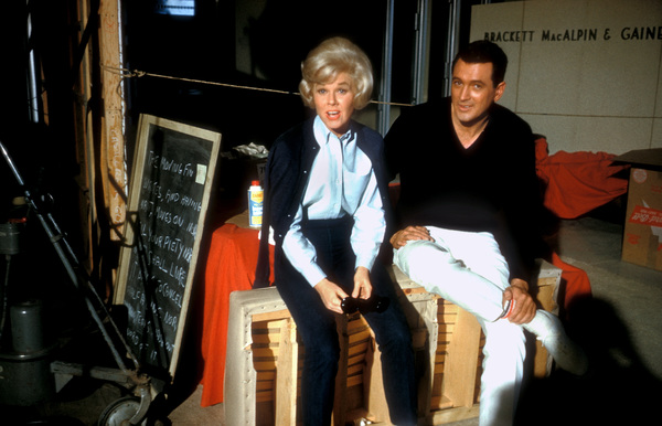 """Lover Come Back""Doris Day and Rock Hudson on the set1961 © 1978 Bob Willoughby - Image 11806_0002"
