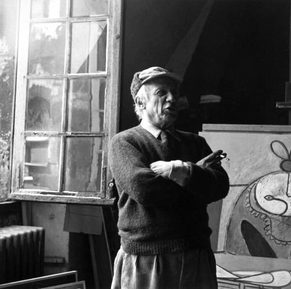 Pablo Picasso at his studio on Rue Des Grands Augustins in Pariscirca 1950s © 1978 Sanford Roth / LACMA - Image 12059_0013